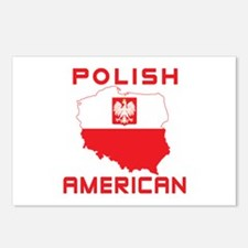 Polish American Map Postcards (Package of 8)