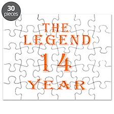 14 year birthday designs Puzzle