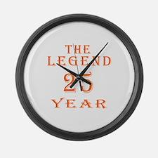 25 year birthday designs Large Wall Clock