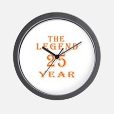 25 year birthday designs Wall Clock