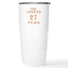 27 year birthday designs Travel Mug