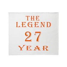27 year birthday designs Throw Blanket