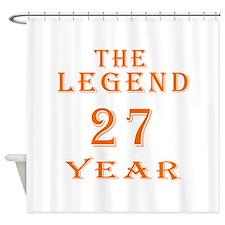 27 year birthday designs Shower Curtain