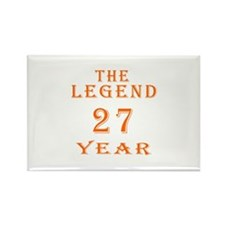 27 year birthday designs Rectangle Magnet