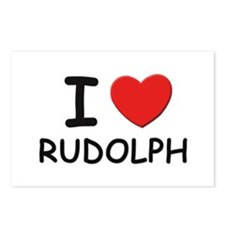 I love rudolph Postcards (Package of 8)