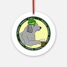 Lager Irish Wolfhound Ornament (Round)