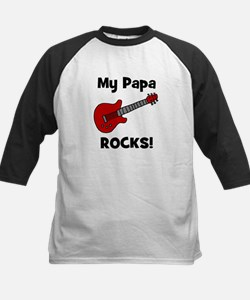 My Papa Rocks! (guitar) Kids Baseball Jersey