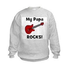 My Papa Rocks! (guitar) Sweatshirt