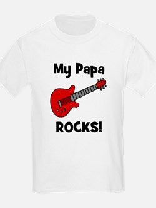 My Papa Rocks! (guitar) Kids T-Shirt