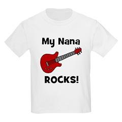 My Nana Rocks! (guitar) Kids T-Shirt