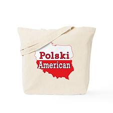 Polski American Map Tote Bag