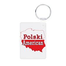 Polski American Map Keychains