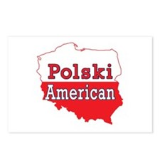 Polski American Map Postcards (Package of 8)