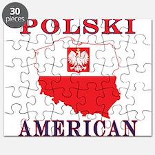 Polski American Map Puzzle