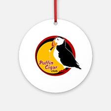 Puffin Cigar Club Ornament (Round)