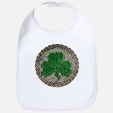 Shamrock And Celtic Knots Bib