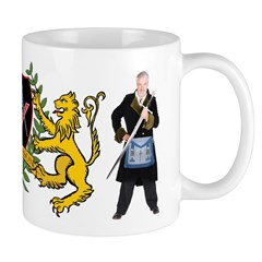 Masonic Tylers & lions Mug