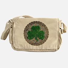 Shamrock And Celtic Knots Messenger Bag