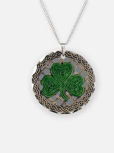 Shamrock And Celtic Knots Necklace