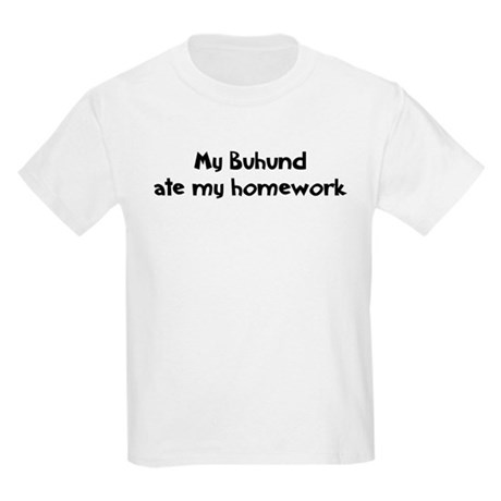 Buhund ate my homework Kids T-Shirt
