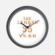 35 year birthday designs Wall Clock