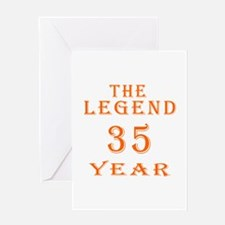 35 year birthday designs Greeting Card