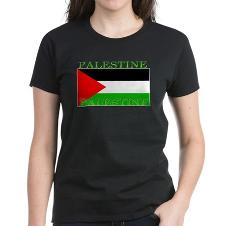 Palestine Palestinian Flag Women's Black T-Shirt
