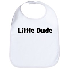 Little Dude - Black Bib