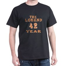 42 year birthday designs T-Shirt