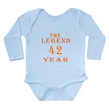 42 year birthday designs Long Sleeve Infant Bodysu