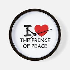 I love the prince of peace Wall Clock