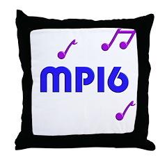 mp16, 16th, mp3, mp4 Throw Pillow