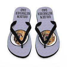 Golden Retriever Dad Flip Flops