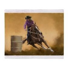 Barrel Racing Throw Blanket