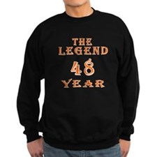 48 year birthday designs Sweatshirt
