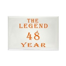 48 year birthday designs Rectangle Magnet (10 pack
