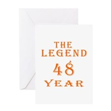 48 year birthday designs Greeting Card
