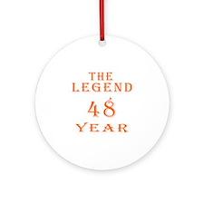 48 year birthday designs Ornament (Round)