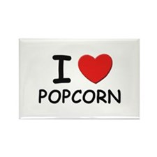 I love popcorn Rectangle Magnet