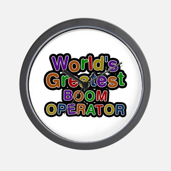 World's Greatest BOOM OPERATOR Wall Clock