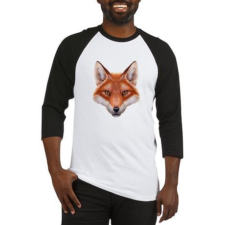 Red Fox Face Baseball Jersey