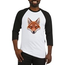 Red Fox Face Baseball Jersey