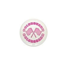 Vintage Colorguard Pink Mini Button (10 pack)