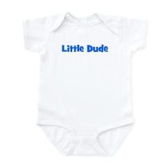 Little Dude - Blue Infant Bodysuit
