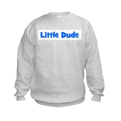 Little Dude - Blue Sweatshirt