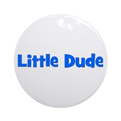 Little Dude - Blue Ornament (Round)