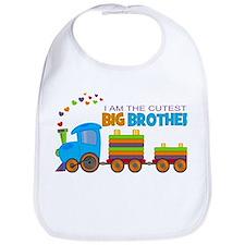 I am the Cutest Big Brother - Train Bib