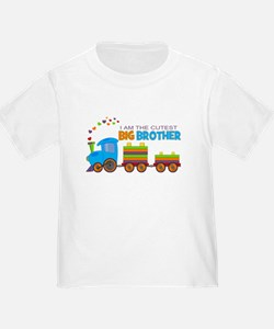 I am the Cutest Big Brother - Train T-Shirt