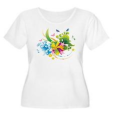 Summer Flower Power Plus Size T-Shirt