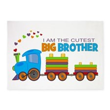 I am the Cutest Big Brother - Train 5'x7'Area Rug